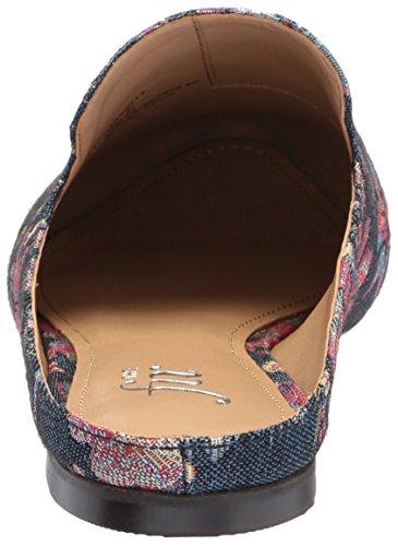De Fix Dames Dalyah Gesloten Teen Dia Loafer Bloemen Pastel Denim Jacquard Textiel