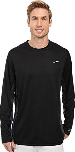 - Speedo Men's Longview Long Sleeve Swim Tee Black/Black X-Large