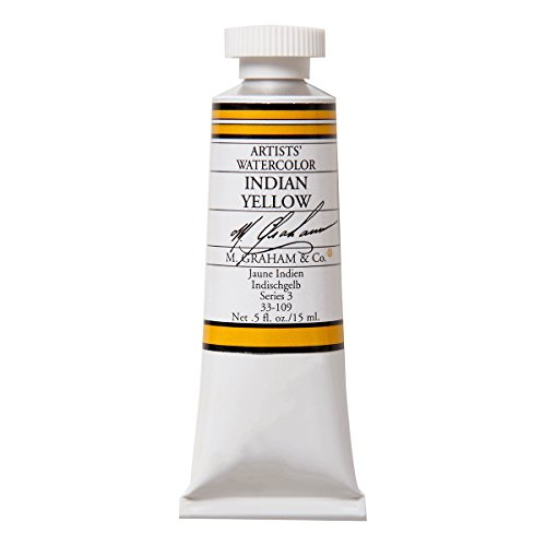 - M. Graham 1/2-Ounce Tube Watercolor Paint, Indian Yellow
