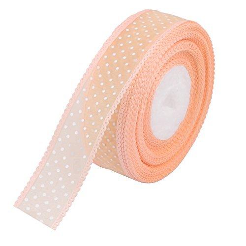 Rolo de fita de cetim Decor DealMux polister Dot casamento do teste padro 20 Yards Comprimento laranja