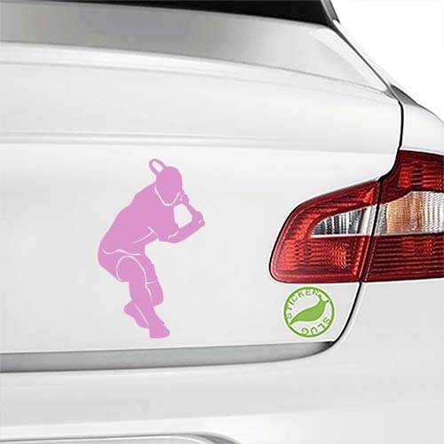 Truck Backhand (Tennis Player Backhand Decal Sticker (pink, 5 inch) for car truck window glass auto bumper)