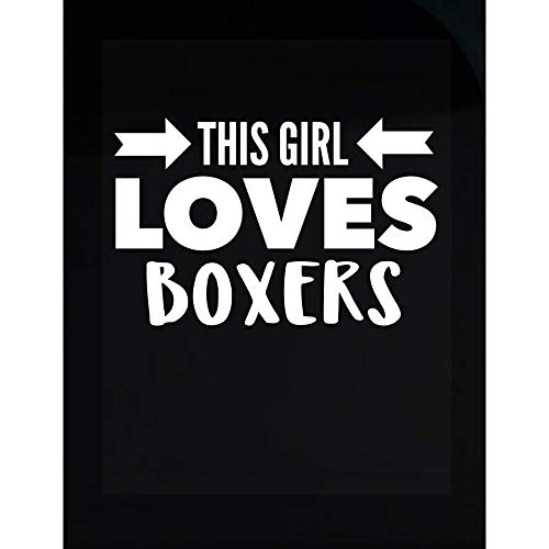 Cute Boxers Design - This Girl Loves - Dog Gift idea - Canine Theme - Puppy - Transparent Sticker