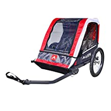 Allen Sports AST202 Deluxe 2-Child Steel Bicycle Trailer, Red