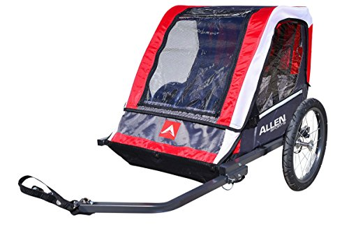 Allen Sports Deluxe 2-Child Steel Bicycle Trailer, Red -