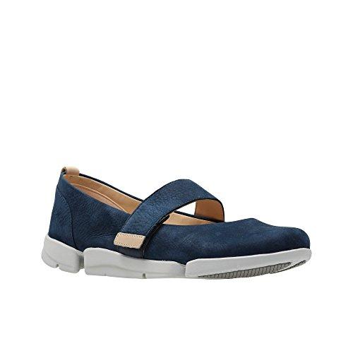 Clarks Womens Navy Nubuck 'Tri Carrie' Shoes N2tWIuOMY