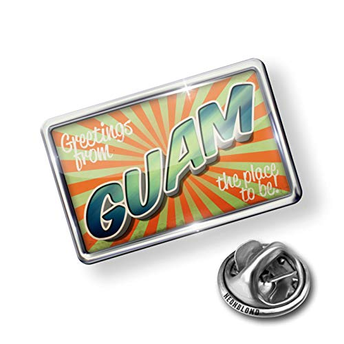 NEONBLOND Pin Greetings from Guam, Vintage ()