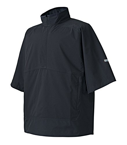 (FootJoy DryJoys Hydrolite Short Sleeve Rain Shirt (Black, Medium))