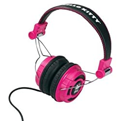 Foldable Over-The-Ear Headphones - Pink/Black (Kt2091Mby)-Hello Kitty by Hello Kitty