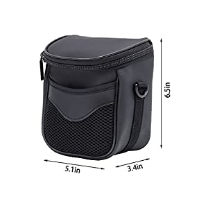 FOSOTO High Zoom Digital Camera Case Bag for Nikon Coolpix L340 B500 L330 L830 L840 L32 V3 V2 J5,Canon Powershot SX530 SX540 SX510 HS,Fuji S8650 S8600,Panasonic Lumix LZ40 LZ30 - Black by FOSOTO
