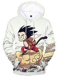 Silver Basic Teen's Unisex Hoodies Dragon Ball Z Goku Boy 3D Print Pullover Sportswear Sweatshirt Tops