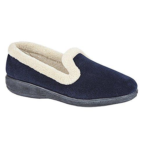 Sleepers - Zapatillas de estar por casa con suela de memory foam modelo Sophia para mujer Azul marino