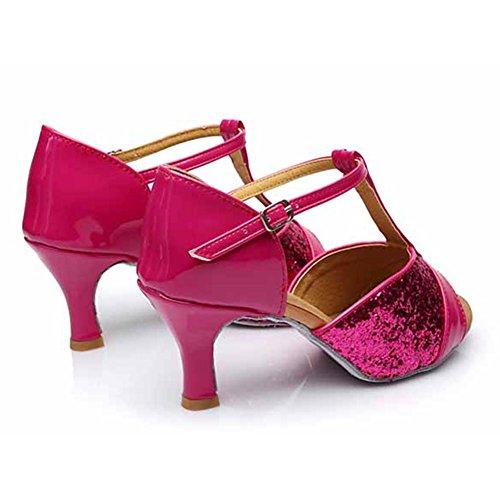Jfkstore Womens Latin Salsa Tango Ballroom Dance Shoes Red BvFRv