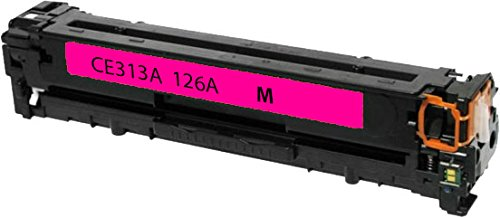 Sherman Inks and Toner Cartridges ® HP 126A CE313A Magenta Toner Cartridge High Yield Compatible Replacement for Printer: Hewlett Packard All-in-One Printers Color LaserJet Pro 100 M175a MFP, Color LaserJet Pro 100 M175nw MFP, LaserJet Pro 200 M275nw MFP