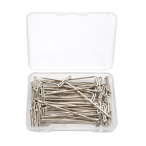 50 PCS 2 inch Length T-Pin Needle For Fixing Wig/Hair Weft/Hair Extension/Dress Form