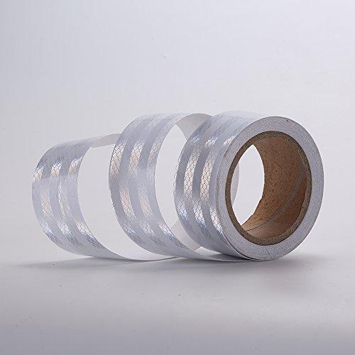 White Reflective Reflecting Strip Pattern