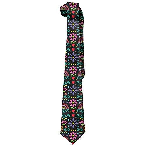Mens Mexican Folk Art Pattern Fashion Silk Ties Personalized Gift Neckties