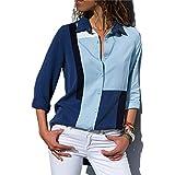 Fashion Long Sleeve Turn Down Collar Office shirt Chiffon Blouse shirt Casual Tops for Women