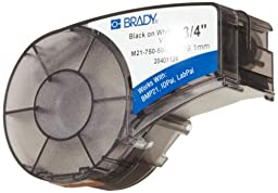 Brady M21-750-595-WT BMP21 Tape B- 595 Indoor/Outdoor Vinyl Film Size: 3/4\