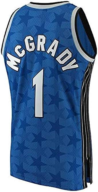 GEXING Tracy McGrady Desgaste de Baloncesto # 1 de los Hombres - los Orlando Magic - Hombre cómodo Deportes Chaleco