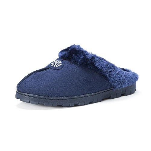 Muk Luks Zueco Con Forro De Piel Zapato De Mujer Azul Marino