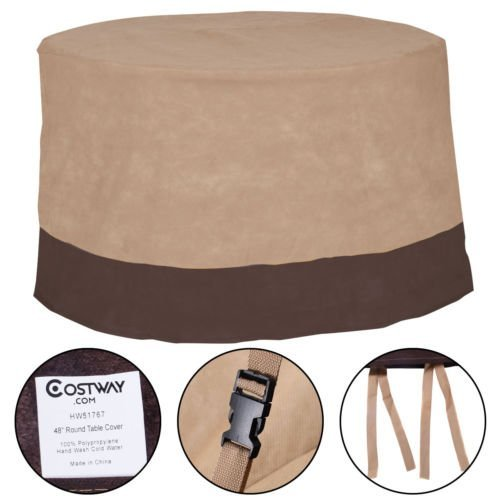 48'' Outdoor Patio Large Waterproof Round Table Cover Case Furniture Protection by unbrand