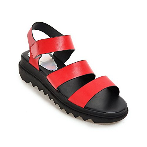 BalaMasa Womens Non-Marking Oversized Cold Lining Urethane Sandals ASL05127 Red