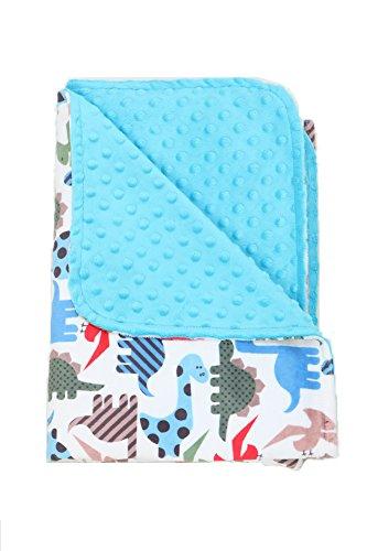Minky Toddler Blanket (Nap Mat Carriers Toddler Blanket /Baby Blanket Minky (Blue) Dinosaurs)