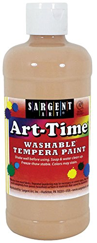 Sargent Art 17-3487 16 oz Peach Art-Time Washable Tempera Paint