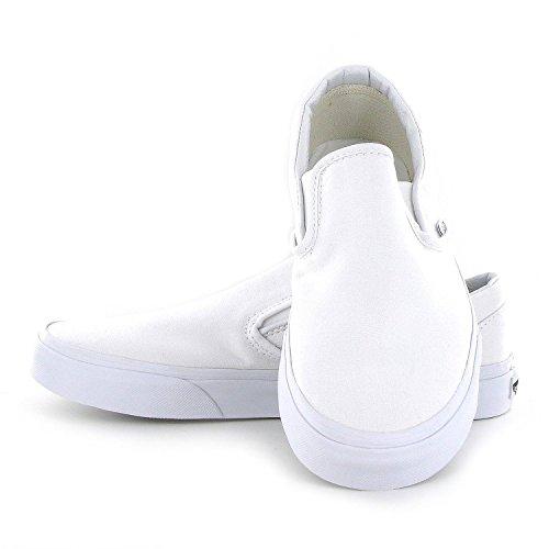 7cbc6622cca8c Vans Classic Slip On White Womens Trainers - Shoes Online Shop