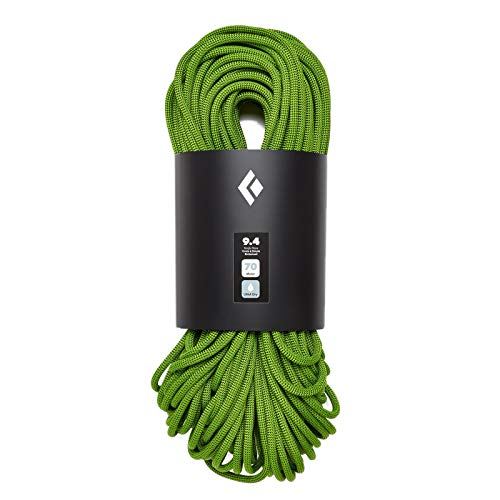 (Black Diamond 9.4mm Dry Climbing Rope - Envy Green)
