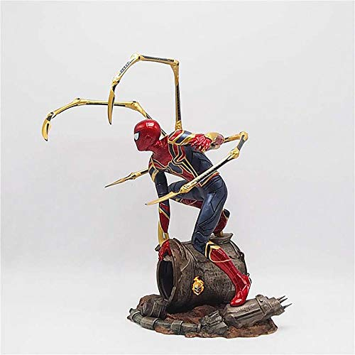 JHart Iron Spider Action Figure, Superhero Statue, Spiderman Animie Model, Movie Character Replica,Fan Gift, Souvenir, Collectible, Crafts,6.3inches