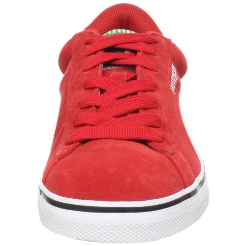 Puma Läder Vulkaniserat Sneaker Högrisk Röd / Vit