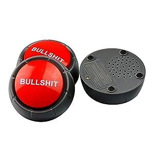 elegantstunning Bullshit Loudspeaker Button Music Box Action Figure Toys Funny Gift Toy