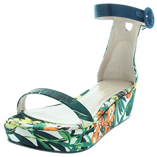 Stuart Weitzman Womens Capri Printed Platform Sandals Multi 7.5 Medium - Stuart Shoes Platform Weitzman Wedge