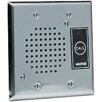 VALCOM V-1072B-ST Doorplate Spkr, Flush w/LED (Stainless) (VC-V-1072B-ST) by Valcom