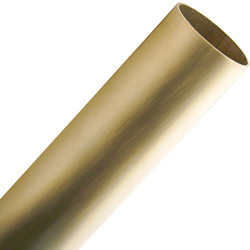 KegWorks 4' Foot Bar Foot Rail Tubing - Brushed (Satin) Brass - 2'' Outside Diameter by KegWorks (Image #2)