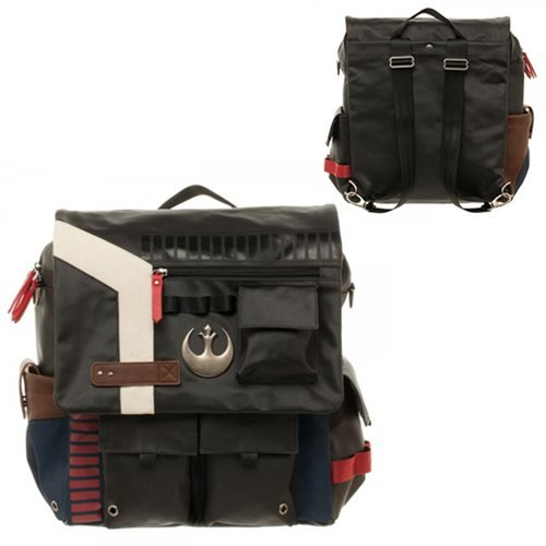 Convertible Collectible (Star Wars Han Solo Inspired Convertible Backpack Crossbody Messenger Utility Bag)