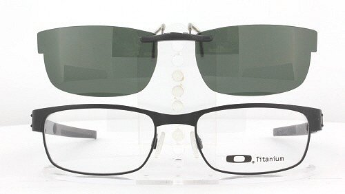 OAKLEY METAL PLATE 53X18 POLARIZED CLIP-ON SUNGLASSES (Frame NOT - Name Brand Top Eyeglasses