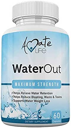 Water Pills for Bloating and Reduce Water Retention - Water Retention Pills for Women and Men- Bloating Relief - Natural Detox Dietary Capsules- Non-GMO Natural Healthy Diet by Amate Life