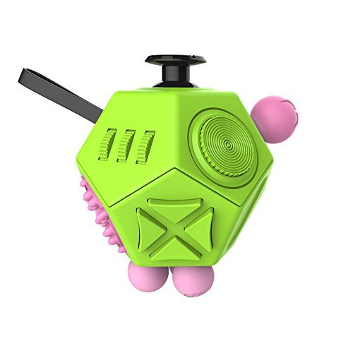 Fidget Cube for Fidgeters Fidget Cube II Release Stress and Anxiety Toy for Children and Adults (Green-A3)