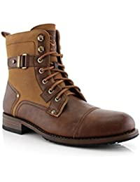 Mike Ankle Boots with Buckles   Dress Shoes   Fashion   Casual   Lace Up   Winter