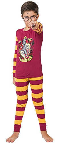 INTIMO Harry Potter Kids All Houses Crest Pajamas (Gryffindor, 16) (Lego Harry Potter Years 5 7 Spell Wheel)