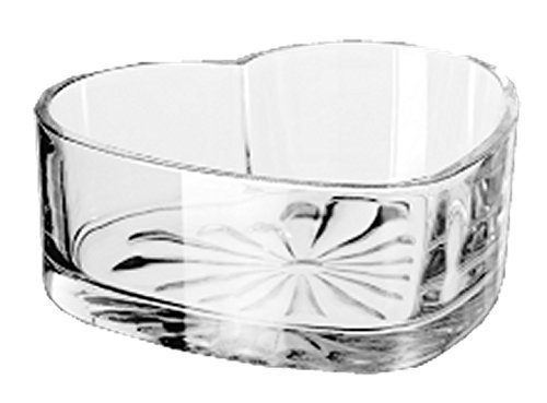 6 Inch Clear Glass Heart Shaped Serving Bowl