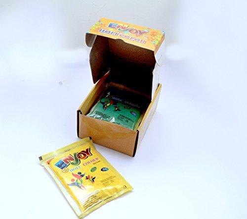 ENJOY Holi Color Powder 5 Pcs - Smoke Green Colour