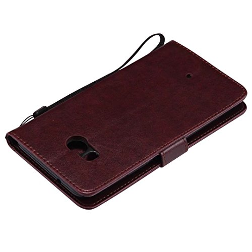 HTC U11móvil, cowx piel sintética para HTC U11funda Árbol para gatos marrón