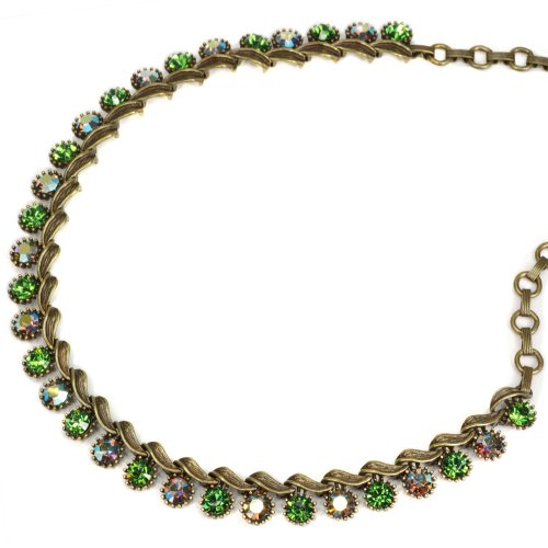 Sweet Romance 1950s Vogue Collar Necklace (Green)