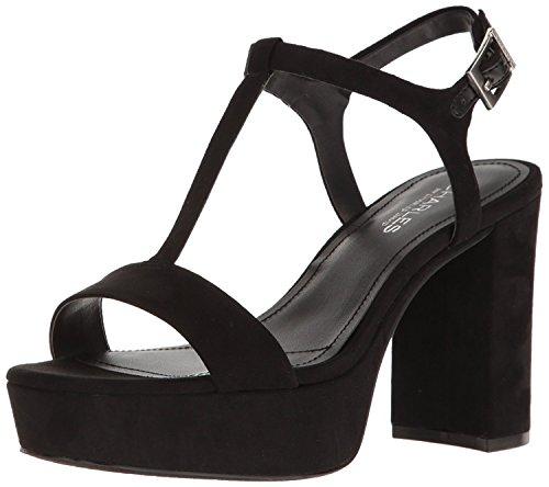 (CHARLES BY CHARLES DAVID Women's Miller Platform Dress Sandal, Microsuede/Black, 8.5 M)