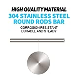 Glarks 18Pcs Stainless Steel Solid Round Rod