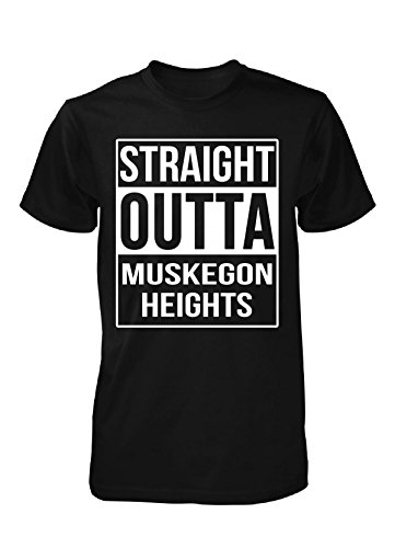 Straight Outta Muskegon Heights City. Cool Gift - Unisex Tshirt
