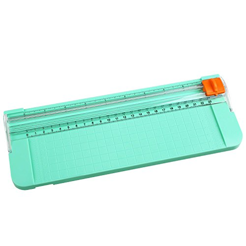 Cobee Paper Trimmer A4 size 11 Inches With Multifunctional Hard Plastic Rule (green)